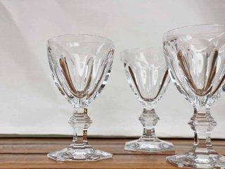 バカラ Baccarat アルクール Harcourt ワイングラス  3客セット ゴブレット クリスタルガラス フランス ◎