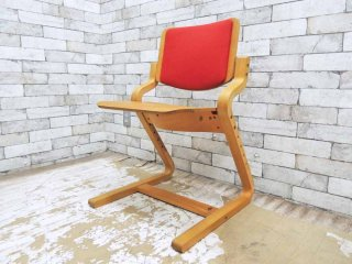 フォルミオ FORMIO デスクチェア KF-02 背クッション付 レッド GKデザイン 学習椅子 ●