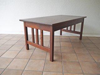 ジャパンビンテージ Japan vintage 木味のセンターテーブル ローテーブル 文机 引き出し付き ◇