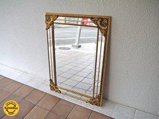 ヨーロピアンクラシカル European Classical ウォールミラー スクエア 姿見 壁掛け鏡 スペイン アンティーク調 ◇