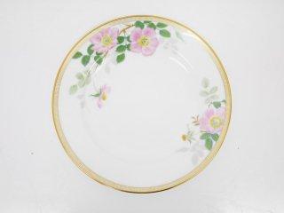 大倉陶園 OKURA フェアリーローズ マチルダ デザート皿 20cm プレート バラ 白磁 A ●