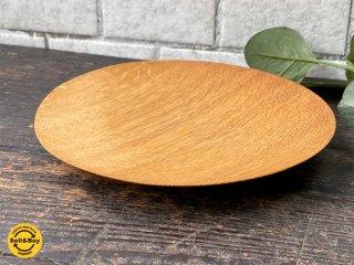 三谷龍二 パン皿 17� 山桜 木の器 プレート 平皿 現代作家 B ■