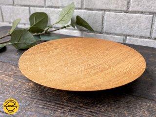 三谷龍二 パン皿 17� 山桜 木の器 プレート 平皿 現代作家 D ■