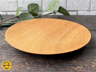 三谷龍二 パン皿 17� 山桜 木の器 プレート 平皿 現代作家 E ■