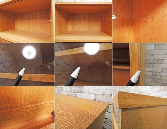 ウニコ unico シグネ SIGNE オーク材 カップボード 食器棚 w119cm ナチュラル 北欧スタイル 定価¥166,320- 廃盤 希少 ●