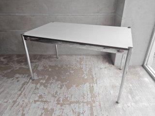 ハラーシステム USM Haller ハラーテーブル カンファレンス ワーキングテーブル ダイニングテーブル 幅125cm ホワイト ♪