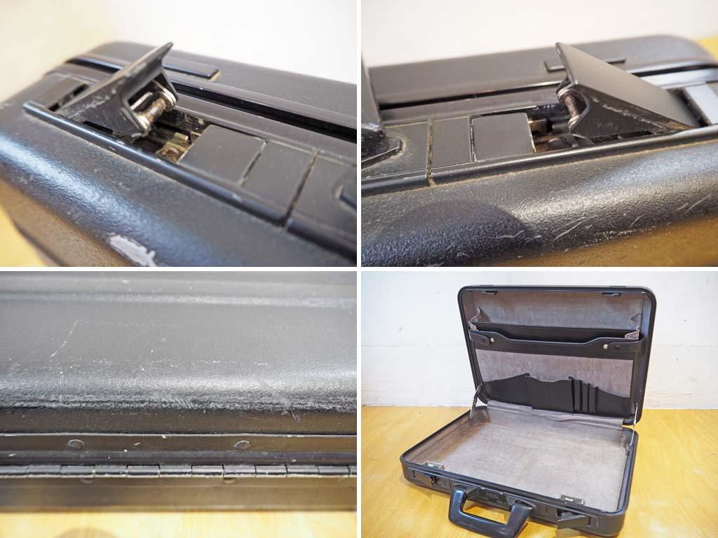ゼロハリ バートン ZERO HALLIBURTON アタッシュケース ブラック 80年代 USA製 旧ダイヤルロック式 アタシェ ブリーフケース★