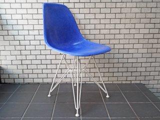ハーマンミラー Herman Miller サイドシェルチェア DSR エッフェルベース ブルー C&R イームズ 現行FRP製 B ■