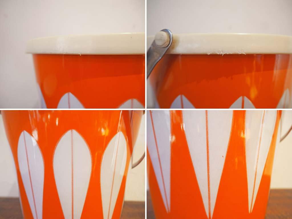 キャサリンホルム CATHARINEHOLM ロータス アイスバケット Lotus Ice Bucket 琺瑯 オレンジ ノルウェー ミッドセンチュリー ヴィンテージ ★