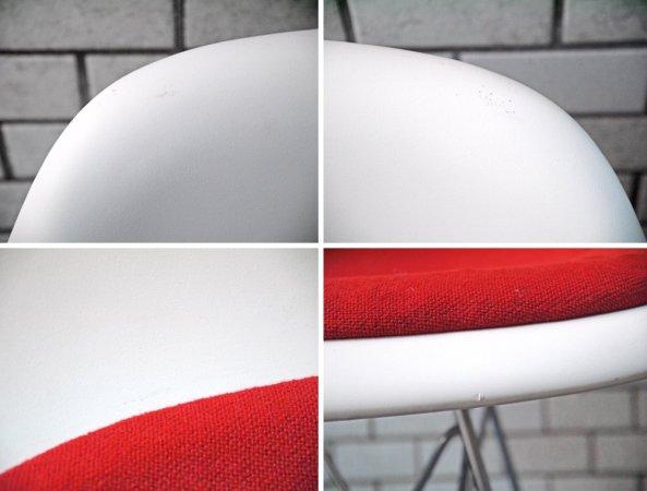 ヴィトラ vitra. サイドシェルチェア ダイニングチェア DSR エッフェルベース ホワイト C&R イームズ クッション付 A ■