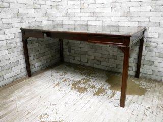 ベイカーファニチャー Baker Furniture 伸長式 ダイニングテーブル マホガニー材 ヨーロピアンクラシカル ●