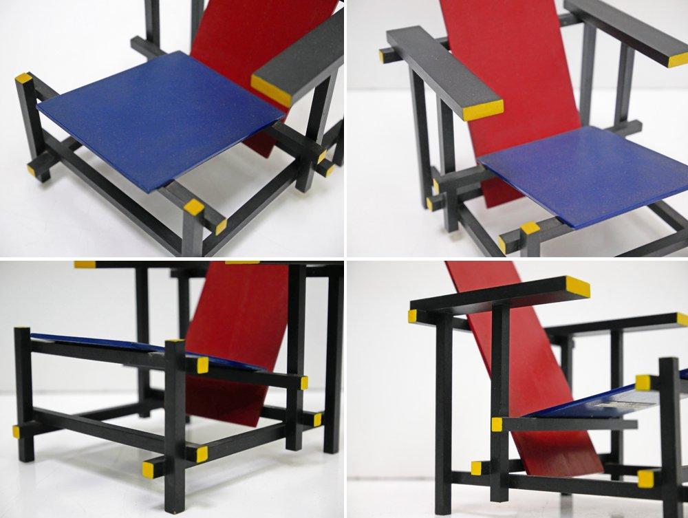 ヴィトラ デザイン ミュージアム Vitra Design Museum レッドアンドブルー Red & Blue chair 1/6サイズ ヘーリット・トーマス・リートフェルト ●