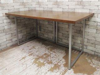 ビスレー BISLEY デスクプラン カバ材天板 + Lフット2個 机 ワーキングテーブル W150cm 英国 ●