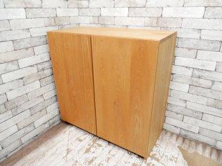 NAUT.furniture プレートサイドキャビネット Plateside Cabinet シューズラック 両扉 アッシュ無垢材 ナチュラルデザイン 定価149,500円 ●
