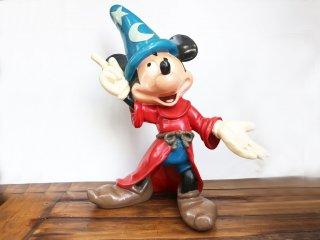 ディズニー DISNEY ファンタジア FANTASIA ミッキーマウス 魔法使いの弟子 80's vintage 55cm 特大フィギュア ◎