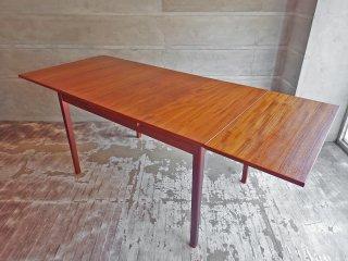 北欧ビンテージ チーク材 エクステンション EX 伸長式 ダイニングテーブル デンマーク ♪