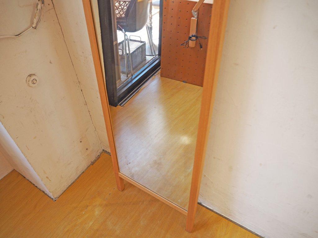 NAUT Furniture タモ無垢材 フレームミラー Flame mirror スタンド 壁掛け ナチュラル ★