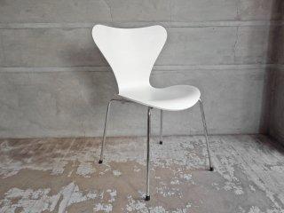 フリッツハンセン Fritz Hansen セブンチェア Seven Chair アルネヤコブセン Arne Jacobsen ホワイトラッカー 北欧家具 デンマーク ♪