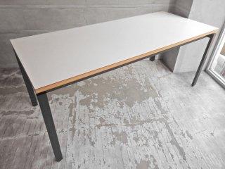 シボネ CIBONE ユニテ UNITE シリーズ ダイニングテーブル デスク ワークテーブル リバーシブル天板 ホワイト×ネイビー 参考価格:11万〜 モダンデザイン♪