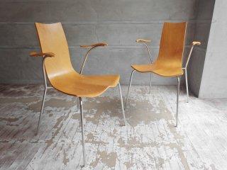 天童木工 tendo リリィチェア Lily Chair ダイニングチェア アームチェア 2脚セット コンプロットデザイン スタッキング A ♪