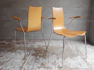 天童木工 tendo リリィチェア Lily Chair ダイニングチェア アームチェア 2脚セット コンプロットデザイン スタッキング B ♪