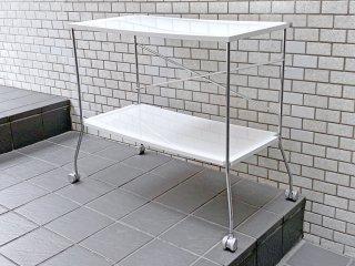 カルテル Kartell フリップ Flip 折り畳み式 キッチンワゴン テーブル ホワイト アントニオ・チッテリオ 定価約13.2万円 ■