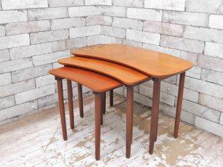 北欧ビンテージ scandinavian vintage チーク材 ネストテーブル サイドテーブル ●