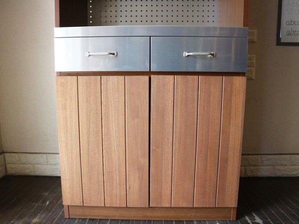 ウニコ unico ストラーダ STRADA キッチンボード レンジボード 食器棚 アッシュ材 W80cm 廃番 ◎