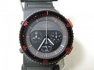 セイコー SEIKO スピードマスター オフセットモデル 7A28-6000 1983年発売 ジョルジェット・ジウジアーロ 腕時計 クロノグラフ動作難アリ ●