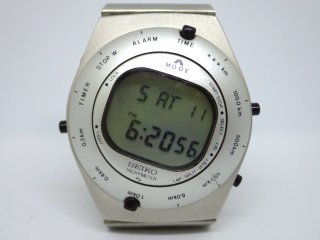 セイコー SEIKO スピードマスター デジタルライダース 希少シルバー A828-4020 1983年発売 ジョルジェット・ジウジアーロ 腕時計 オリジナル ●