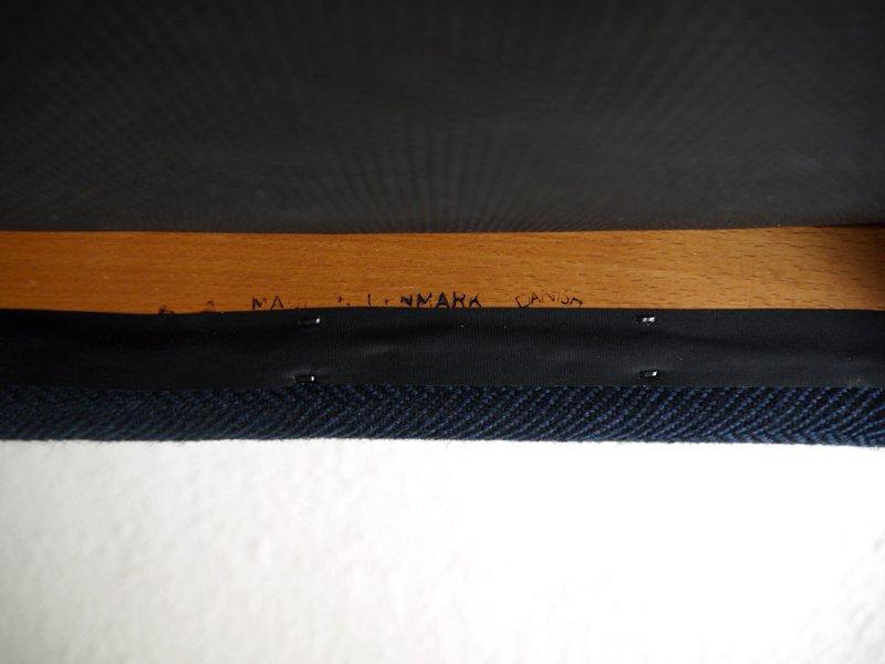 J.L.モラー J.L.Mollers 70-80's ビンテージ 名作 ダイニングチェア No.83 無垢チーク×ヘリンボーンツイード 状態良好 北欧家具 デンマーク ニルス.O.ミューラー A ◇