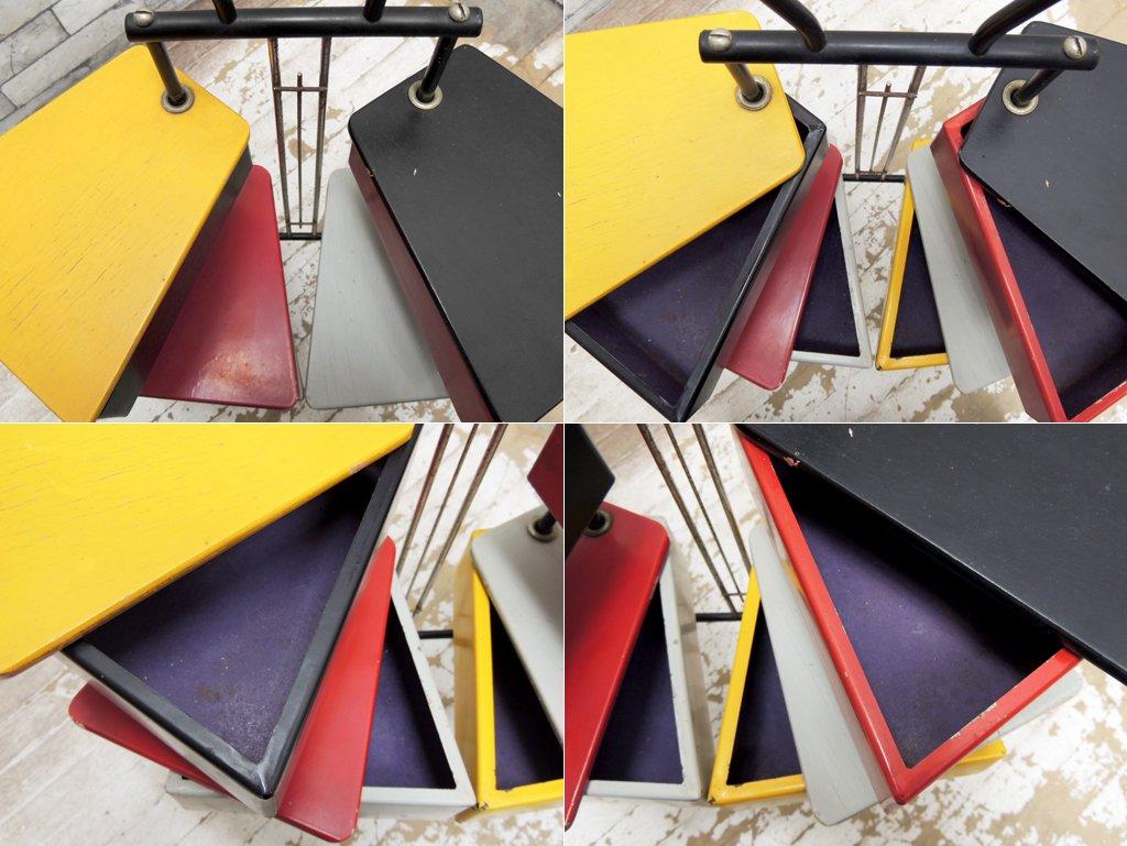 METALUX ビンテージ ソーイングボックス ジョーズテラーズ Joos Teders デザイン オランダ ミッドセンチュリー ●