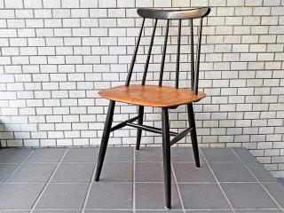 ファネットチェア Fanett chair イルマリ・タピオヴァーラ チーク材座面 ダイニングチェア 北欧ビンテージ ■