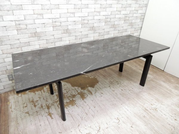 ル・コルビジェ Le Corbusier LC6 ダイニングテーブル 大理石天板 モダン リプロダクト品 ●
