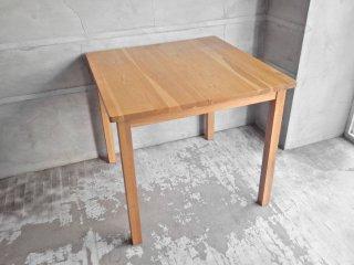 無印良品 MUJI オーク材 無垢材 ダイニングテーブル 正方形 幅80cm♪