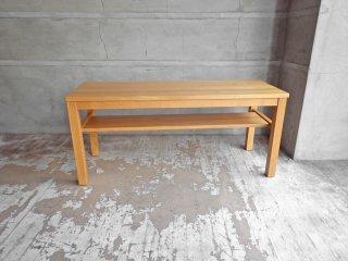 無印良品 MUJI タモ材 無垢集成材 板座 木製 ベンチ ローテーブル ナチュラル 廃盤 希少 ♪