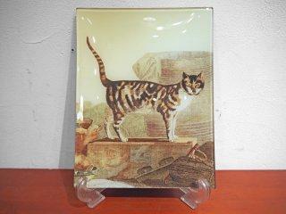ジョン・デリアン JOHN DERIAN デコパージュプレート 飾り皿 アメリカ製 猫 ★