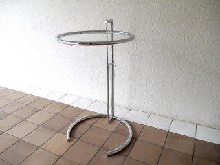 クラシコン ClassiCon アイリーン・グレイ Eileen Gray アジャスタブルテーブル E1027 ロー サイドテーブル ドイツ 定価¥16.5万 展示美品 MoMA永久所蔵作品 ◇