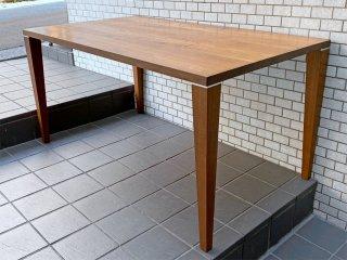 IDC 大塚家具 OTSUKA クリオ ダイニングテーブル ウォールナット 無垢材 W140cm シンプルモダン ■