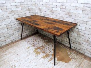 アクメ ファニチャー ACME Furniture グランビュー GRAND VIEW オーク無垢材 ダイニングテーブル 幅150cm インダストリアル ●