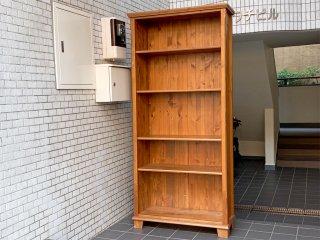 カントリースタイル パイン材 無垢材 ブックシェルフ 本棚 飾り棚 ■