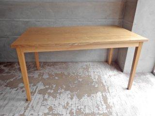 無印良品 MUJI タモ材 無垢集成材 ダイニングテーブル ナチュラル  幅140cm 廃盤 希少♪