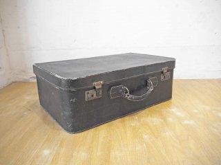 イングランド レザートランク 革製 ビンテージ バッグ 鞄 Made in England レトロ スーツケース 英国 イギリス製 ★