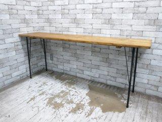 インダストリアルスタイル ウッド × アイアン コンソールテーブル ダイニングテーブル カウンターテーブル ●