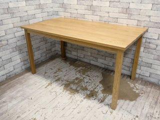無印良品 MUJI オーク無垢材 ダイニングテーブル 幅140cm ナチュラルモダン ●