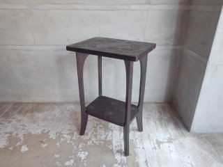 日光彫 サイドテーブル 花台 飾り棚 民芸家具 伝統工芸 ♪
