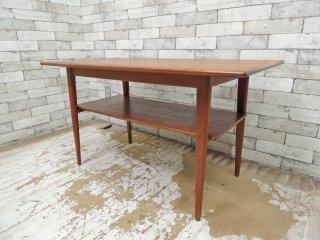 北欧ビンテージ Scandinavian vintage チーク材 コーヒーテーブル センターテーブル ●