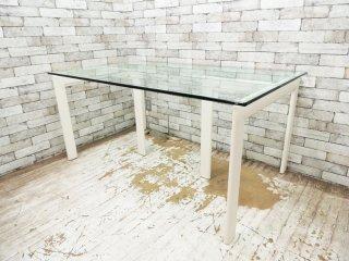 フライミーノワール FLYMEe Noir ガラストップダイニングテーブル GLASS TOP DINING TABLE0 ガラス天板 W150 ●