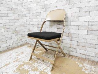 クラリン CLARIN フォールディングチェア 折り畳みチェア Folding chair SANDLER ブラック ファブリッククッション仕様 A ●