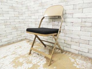 クラリン CLARIN フォールディングチェア 折り畳みチェア Folding chair SANDLER ブラック ファブリッククッション仕様 B ●
